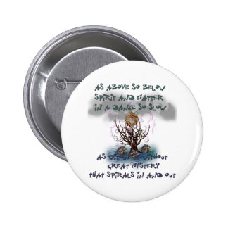 As Above So Below 6 Cm Round Badge