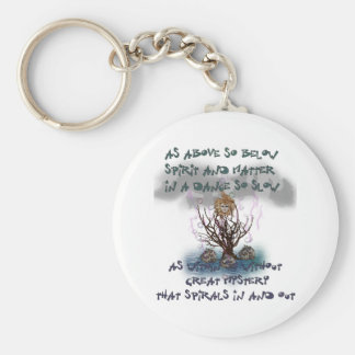 As Above So Below Basic Round Button Key Ring
