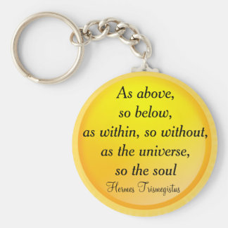 AS ABOVE, SO BELOW keychain