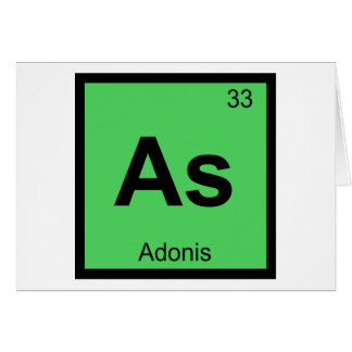 As - Adonis Greek Chemistry Periodic Table Symbol Card