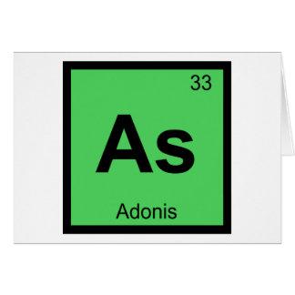 As - Adonis Greek Chemistry Periodic Table Symbol Greeting Card