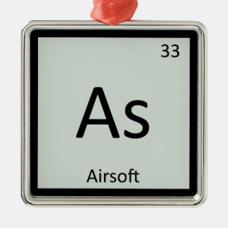 As - Airsoft Sports Chemistry Periodic Table Silver-Colored Square Decoration