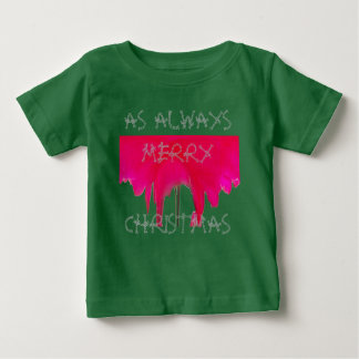 As Always Merry Christmas Beautiful Red rose Baby T-Shirt