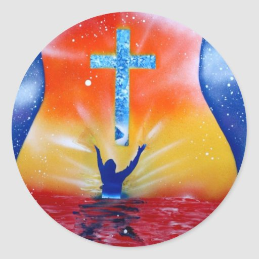 As and yea shall receive spray paint painting round sticker