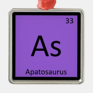 As - Apatosaurus Dinosaur Chemistry Periodic Table Christmas Tree Ornament