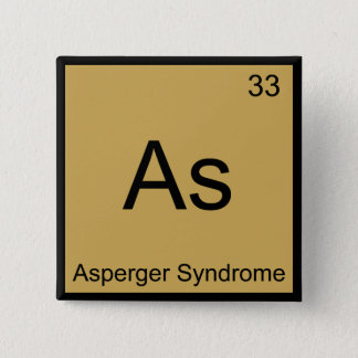 As - Asperger Syndrome Funny Chemistry Element Tee 15 Cm Square Badge