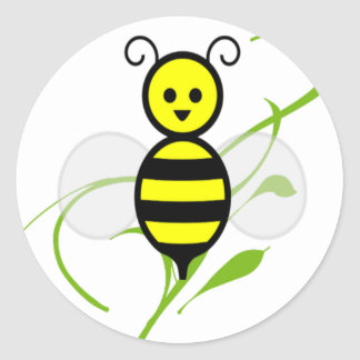 As Busy As A Bee Round Sticker