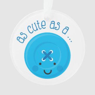 As Cute As A Button Blue