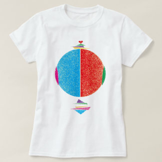 As for heart round T-Shirt