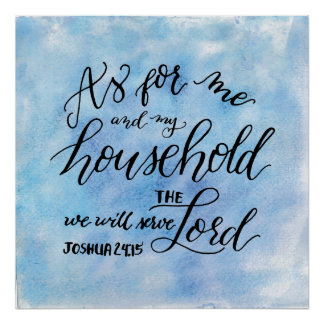 As for me and my household, we will serve the Lord Poster