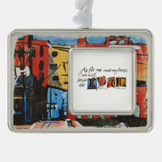 As For Me by Lyn Graybeal Silver Plated Framed Ornament