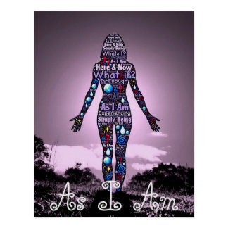 """As I Am, Simply Being"" Purple Poster"
