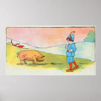 As I went to Bonner, I met a pig Poster