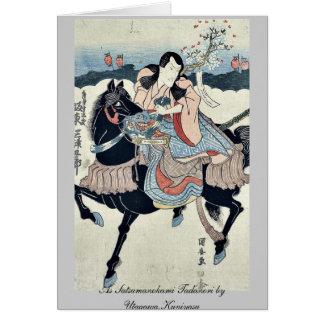 As Satsumanokami Tadanori by Utagawa,Kuniyasu Note Card