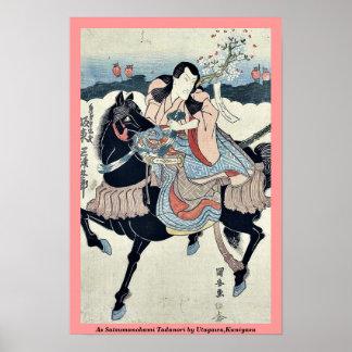 As Satsumanokami Tadanori by Utagawa,Kuniyasu Poster