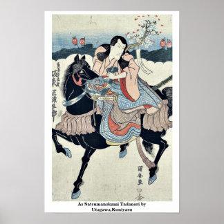 As Satsumanokami Tadanori by Utagawa,Kuniyasu Print