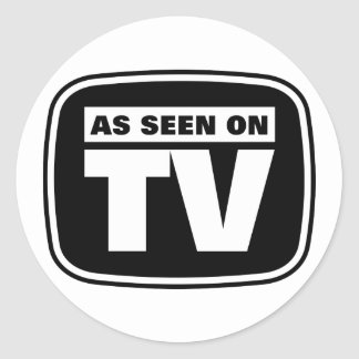 As Seen on TV - Black and White Classic Round Sticker