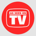 As Seen on TV Round Sticker