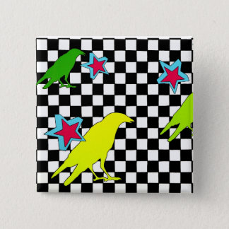 """""""As the crow flies"""" 15 Cm Square Badge"""