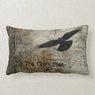 As The Crow Flies Lumbar Cushion