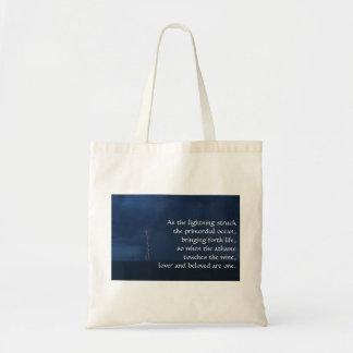 """As the lightning struck the primordial ocean..."" Tote Bag"