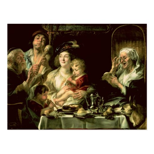 As the Old Sing, so the Young Pipe, 1638 Post Card