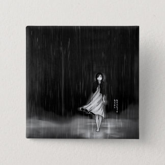 ... as the rain fell on me 15 cm square badge
