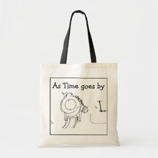 As Time goes by... Original Drawing - Watch Tote Bag