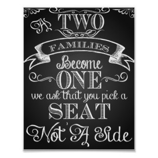 """""""As two families become One"""" wedding print"""