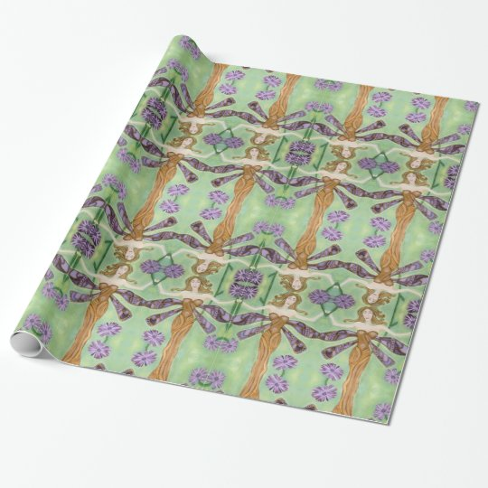 As Wise As The Dragonflies Art Wrapping Paper