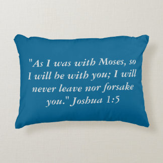 """""""As with Moses"""" Scripture Accent Pillow"""