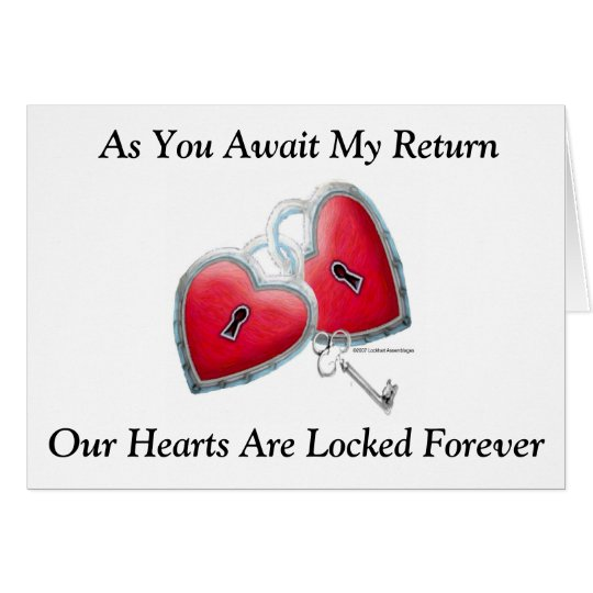 As You Await My Return...Greeting Card