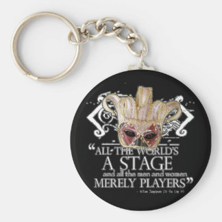 As You Like It Quote Basic Round Button Key Ring