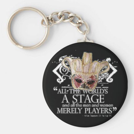 As You Like It Quote Keychains