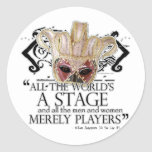 As You Like It Quote Round Stickers
