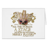 As You Like It Stage Quote (Gold Version) Greeting Card