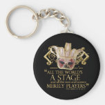 As You Like It Stage Quote (Gold Version) Keychains