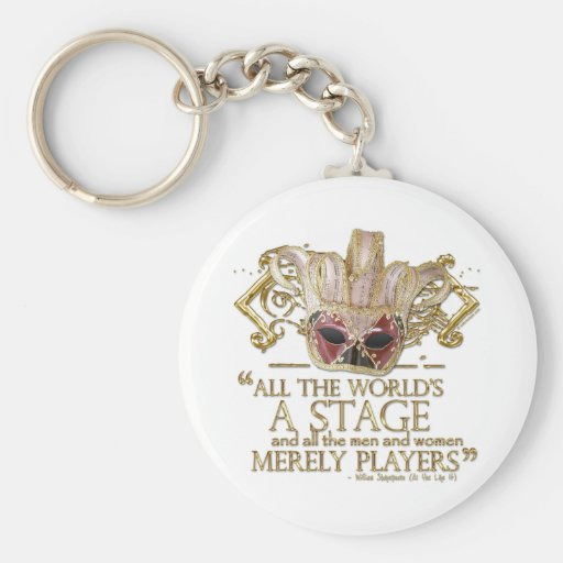 As You Like It Stage Quote (Gold Version) Key Chain