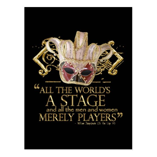 As You Like It Stage Quote (Gold Version) Postcard