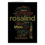 As You Like It Word Mosaic Greeting Cards