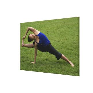 Asana yoga canvas print