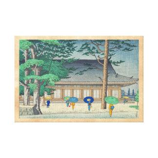 Asano Takeji Rain at Sanjusangendo Temple art Canvas Print