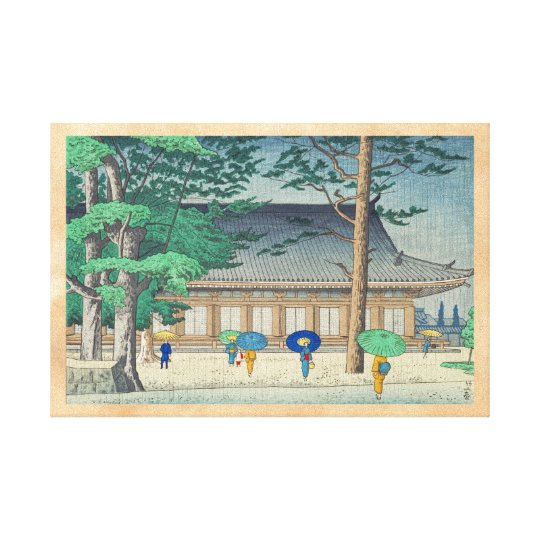 Asano Takeji Rain at Sanjusangendo Temple art Canvas