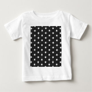 Asanoha black leaf baby T-Shirt