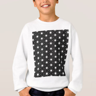 Asanoha black leaf sweatshirt