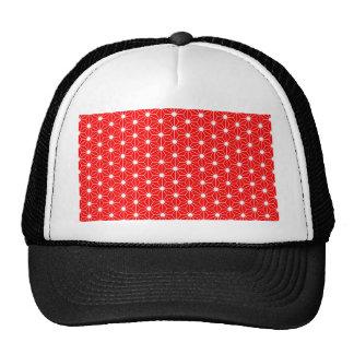 Asanoha leaf red cap