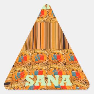Asante Sana Kenya Traditional Tribes Hakuna Matata Triangle Sticker