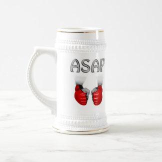ASAP MMA Gloves red Beer Stein