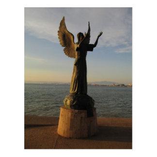 ASAS Angel Statue at Sunset Postcard