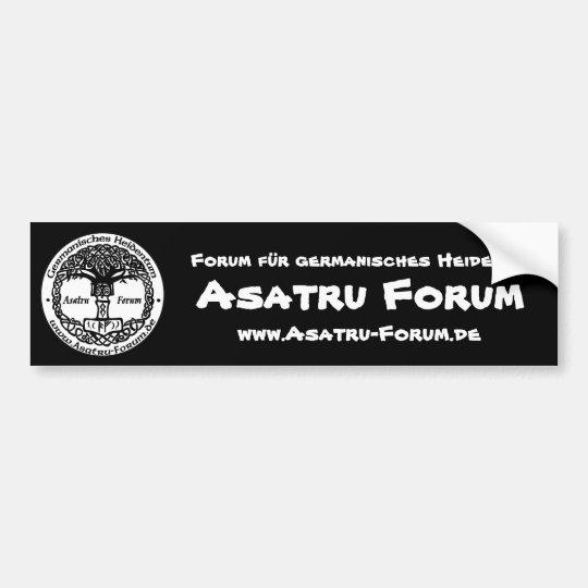 Asatru forum logo bumper sticker